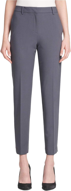 DKNY Womens Fixed Waist Casual Trouser Pants, Grey, 16