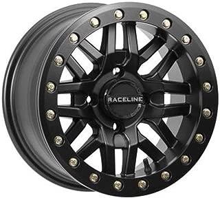 Raceline 14-19 Polaris RANRZR1000XE Ryno Beadlock Wheel (Front/Rear / 14X7 / 4/156 5+2) (Black)