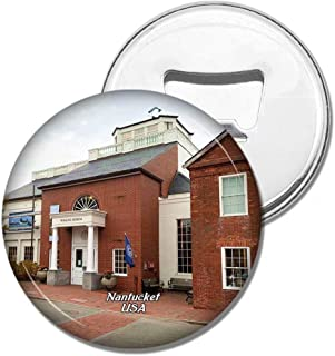 Weekino Fridge Magnets USA America Nantucket Whaling Museum Bottle Opener Beer Magnet Travel Souvenir Collection Gift