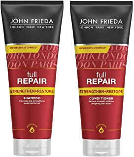 JOHN FRIEDA Full Repair Strengthen and Restore Shampoo and Conditioner, 250ml - Reduce the risk of breakage and split ends