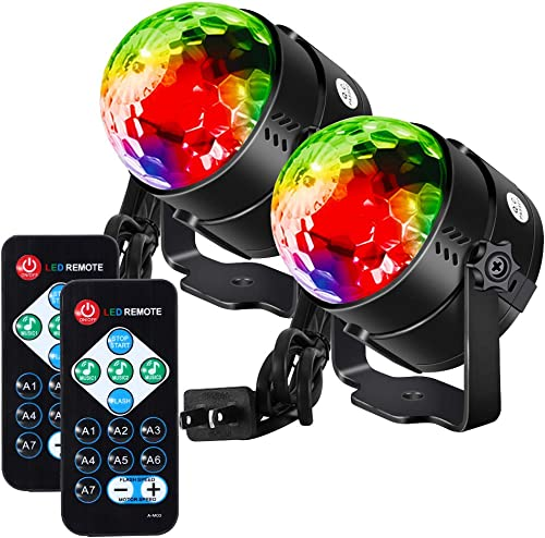 Litake Party Lights Disco Ball Strobe Light Disco Lights, 7 Colors Sound Activated with Remote Control Dj Lights Stag...