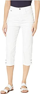 Soft Hues Denim Suzanne Capris in White White 12