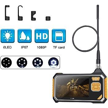 5M LittleMokey HD 1080P Telecamera con Schermo da 4,3 Pollici LCD con endoscopio e 6 LED IP67 Impermeabile Supporto Telecamera Digitale con Schermo per Android e iOS Smartphone