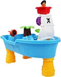 Keezi Kids Outdoor Pirate Ship Sand and Water Table Children Beach Sandpit Toys
