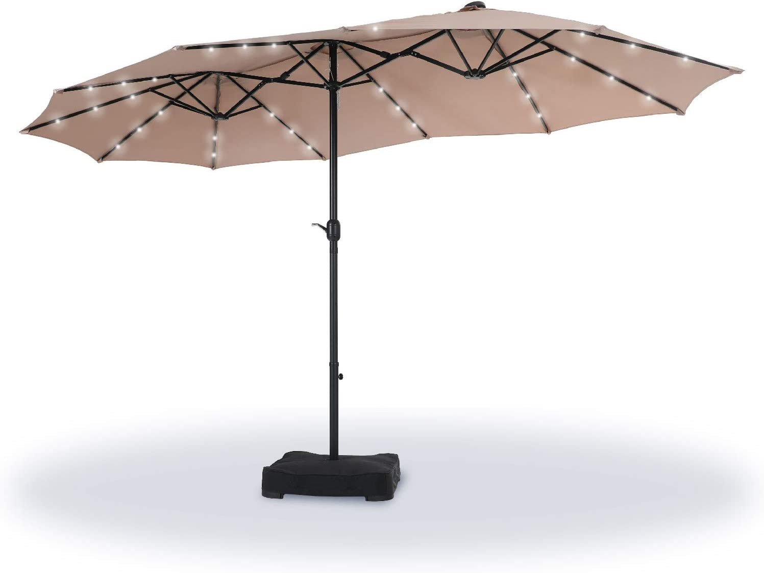 Sophia William 15ft Patio Umbrella Included Ranking TOP20 Base with Lights Max 47% OFF