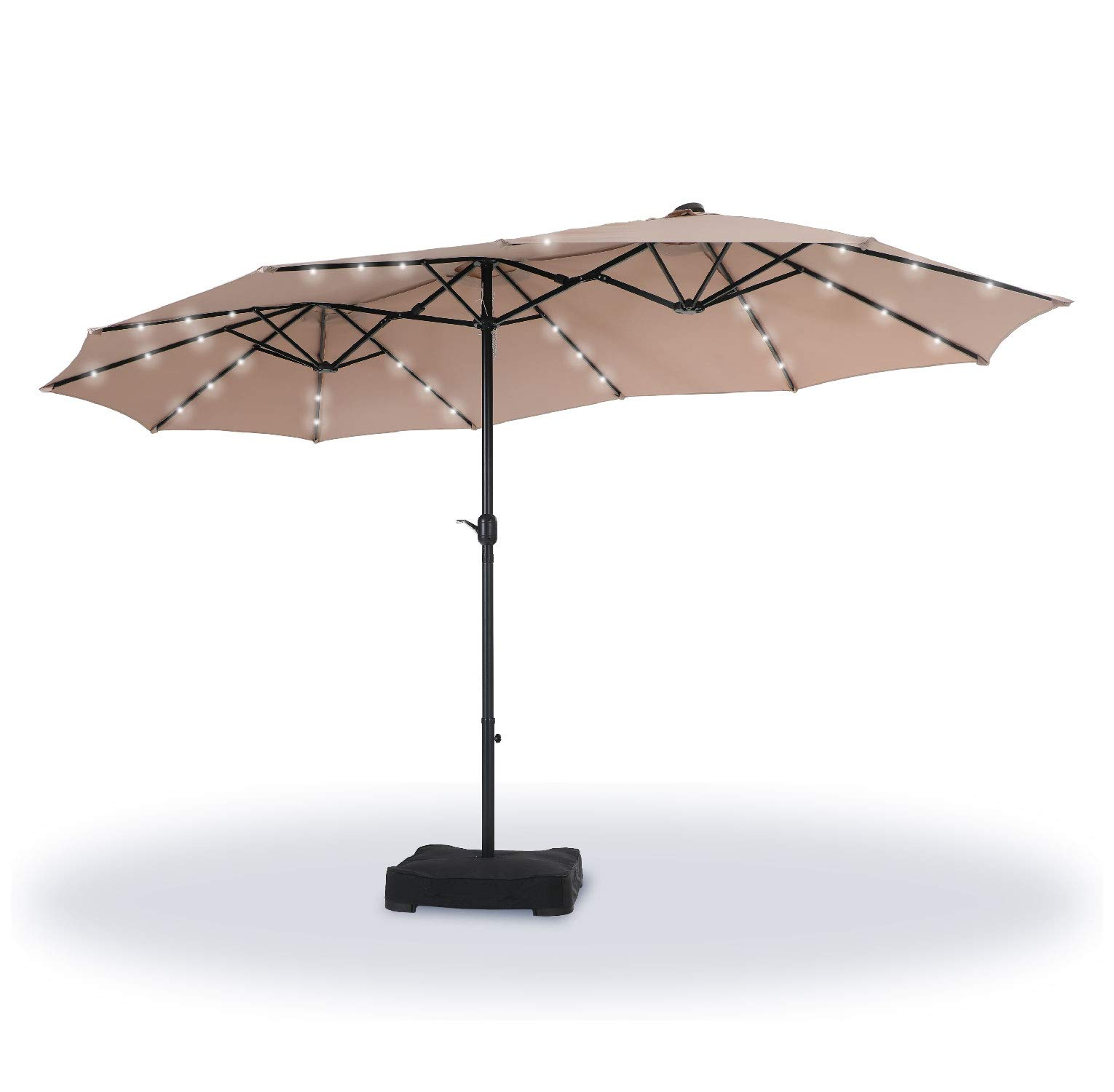Sponsored Ad - Sophia & William 15ft Patio Umbrella with Lights (Base Included), Extra Large Outdoor Double-sided Umbrell...