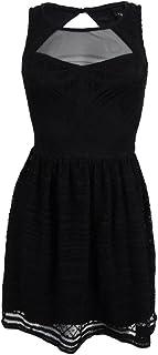 e65d8737a Trixxi Juniors' Sleeveless Lace Illusion Dress