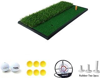 Posma HM020A ゴルフギフトセット ゴルフ練習マット ダブルサイド ラバーティー ツアーボール ゴルフ練習ボール チップショット練習 チッピングネット