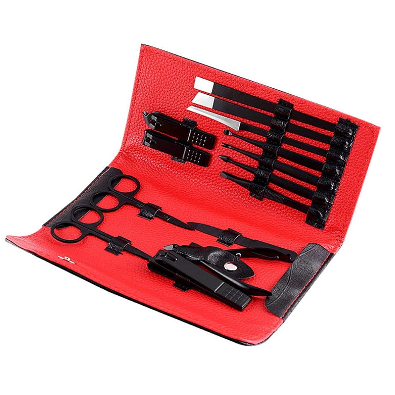 裏切りチーター不可能なマニキュアペディキュアセット爪切り-ステンレス製の14個のマニキュアセット-爪ツール-女性と男性のための完璧な贈り物。