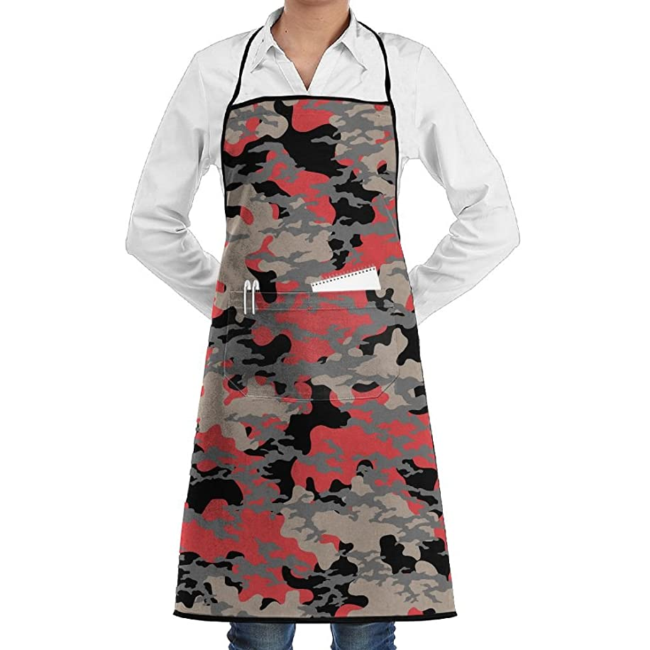 Polyester Kitchen Apron Cooking Baking Garden Chef Apron Bib With Pocket For Women Colorful Geometric Patterns
