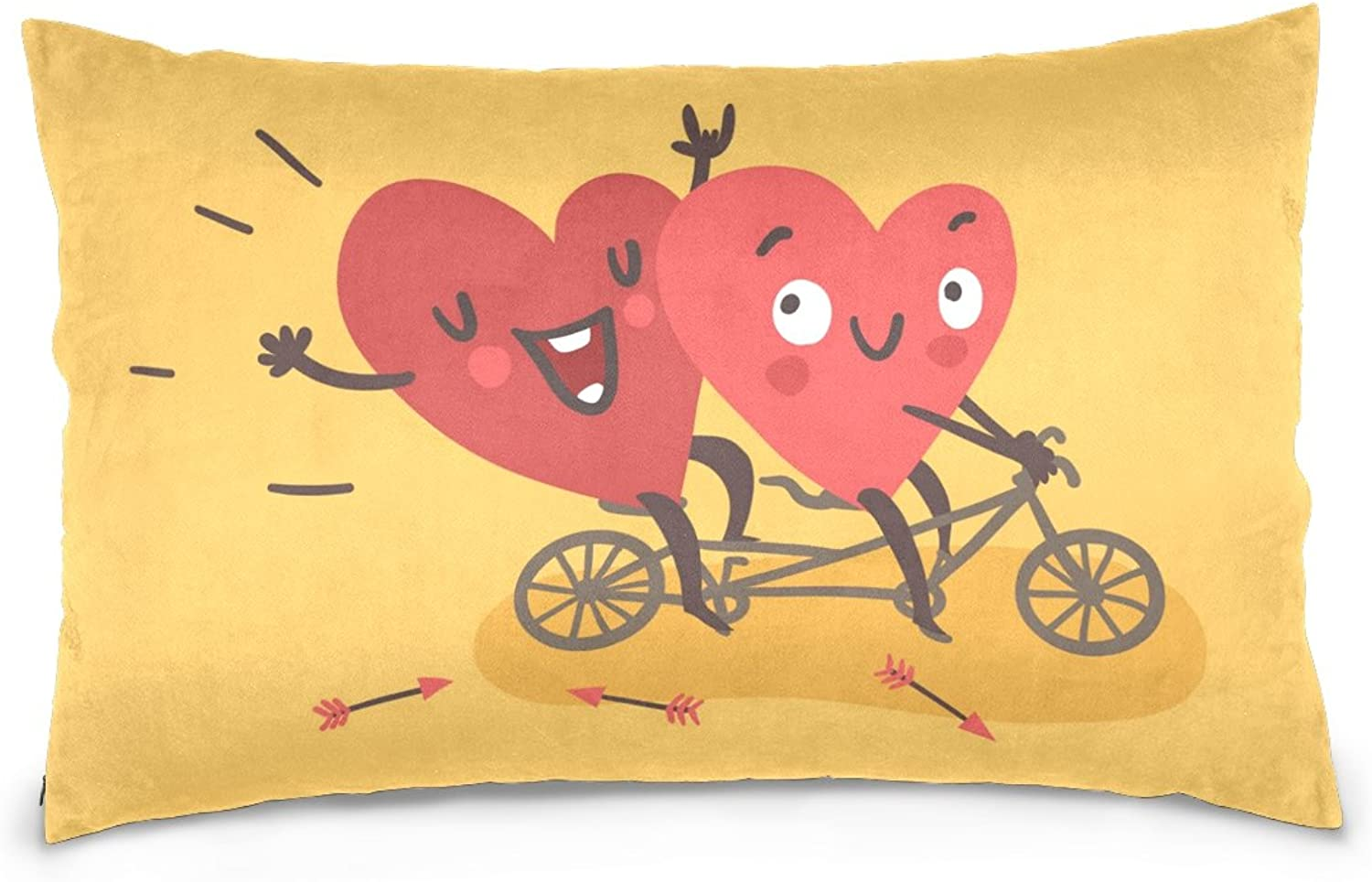 Top Carpenter Happy Valentine's Day Velvet Oblong Lumbar Plush Throw Pillow Cover Shams Cushion Case - 16x24in - Decorative Invisible Zipper Design for Couch Sofa Pillowcase Only