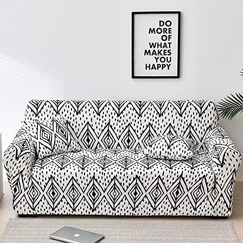 WXQY Europäische All-Inclusive-Sofabezug Blumendruck Sofabezüge für Wohnzimmer Sofa Handtuch Möbel Fall Sessel Couchbezug A20 4-Sitzer