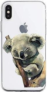 Oihxse Beschermhoes voor iPhone XR, ultradun, transparant, TPU-siliconen, zacht, motief / exacte pasvorm / zacht, voor iPh...