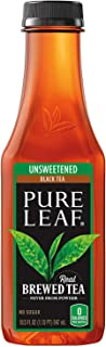Pure Leaf Iced Tea, Unsweetened, Real Brewed Black Tea, 0 Calories, 18.5 Ounce (Pack of 12) (Limited Edition)