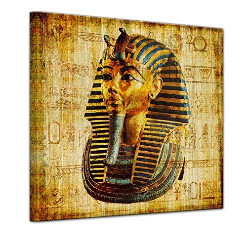 Wandbild - Pharao - Ägypten - Bild auf Leinwand 40 x 40 cm - Leinwandbilder Bilder als Leinwanddruck Städte & Kulturen Afrika - altes Ägypten - Pharaonenmaske