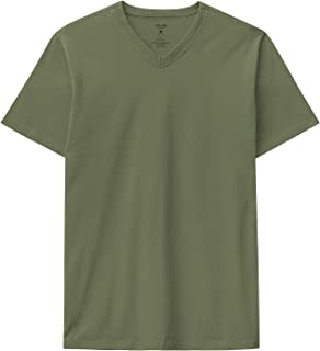 Camiseta Decote V Em Malha Malwee, Verde Militar, Masculino, P, Tradicional