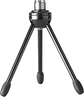 Neewer Desktop Desk Microphone Stand Foldable Tripod with Non-slip Feet, Durable Iron Construction, 3/8-inch and 5/8-inch Threaded Mount, Black