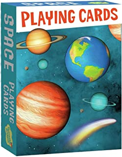 Peaceable Kingdom Solar System Playing Card Deck of 52 Cards Plus 2 Jokers with Box