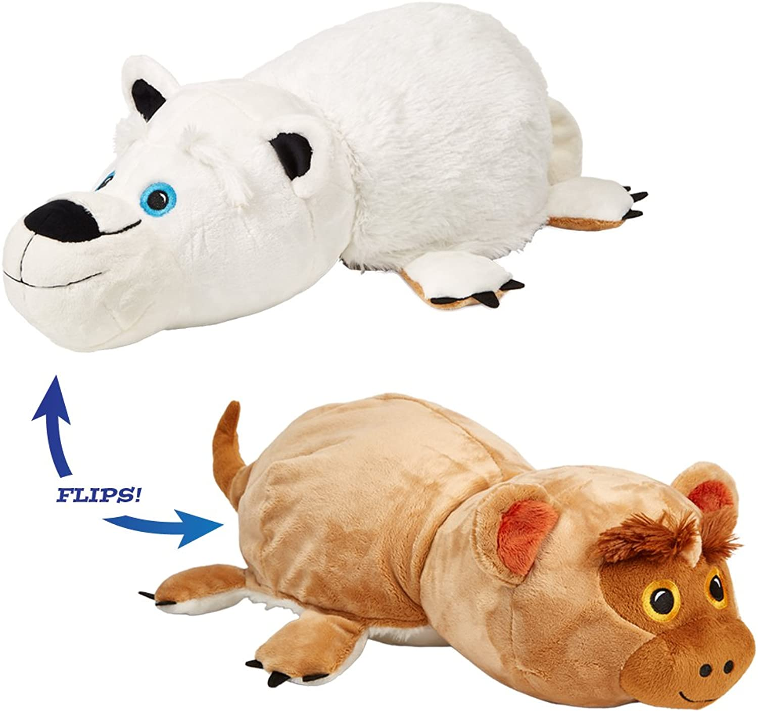 Flip Pets The Amazing Toy Thats Two Pets in one for Everyone  (Polar Bear Monkey)