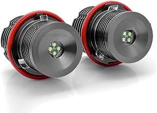 High Power Xenon White 6000K 20W 40W CREE LED Angel Eye Halo Ring Marker Light Bulb For BMW E39 E53 E60 E61 E63 E65 E66 E83 E87 X5 2x
