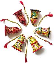Bells Christmas Ornaments, Set of 6, Handmade, Christmas Tree Hanging Decorations, Home Festive Holiday Decor