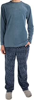 Joe Boxer (2 Piece Men's Fleece Pajamas Set Soft Shirt Warm Pants PJ Sleepwear Top & Bottom