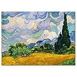 LaMAGLIERIA Hochqualitatives Poster - Van Gogh Wheat Field