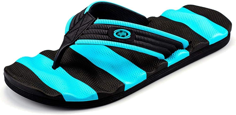 L-X Men's Flip Flop Sandal Support Lightweight Beach shoes Bathroom Anti Slip Massage Classic Stylish Leisure Sandals, bluee, 44EU