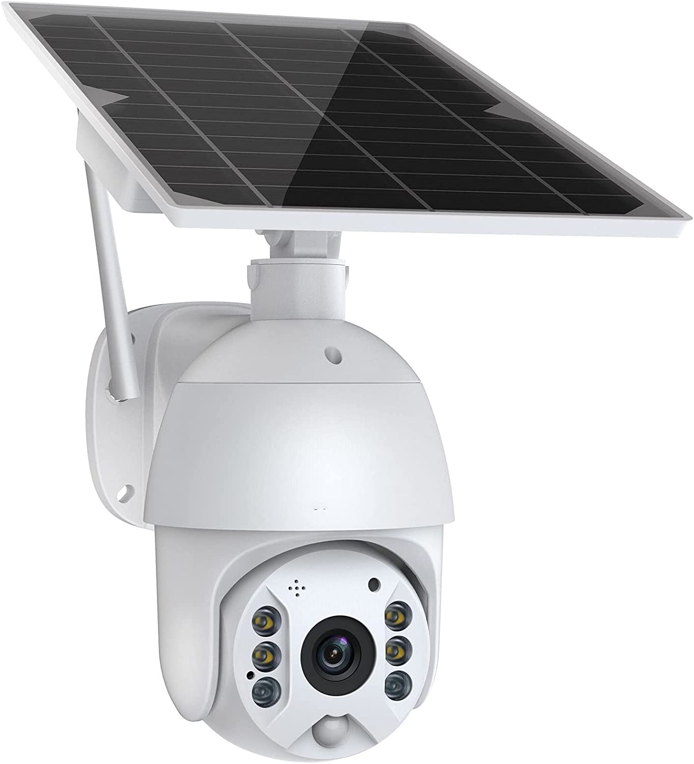 Security Camera Outdoor, 1080P Wireless WiFi PTZ Solar Security Camera with 2-Way Audio, Color Night Vision, IP65 Waterproof,Motion Detection