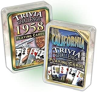 Flickback Media, Inc. 1958 Trivia Playing Cards & California Trivia Cards Combo: Happy 61st Birthday