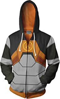 Unisex Game Dr.Gordon Freeman Hoodie Sweatshirt Cosplay Costume Pullover Top