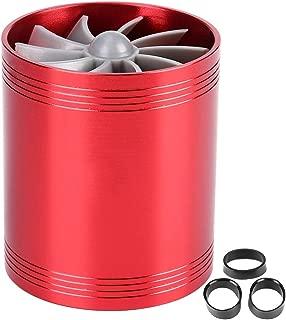 KIMISS Air Intake Turbo, Car Air Intake Turbonator Dual Fan Turbine Super Charger Gas Fuel Saver Turbo(Red)