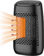NXL Calefactor Vertical Termostato Regulable,Hot Calefactor Cerámico Protección Sobrecalentamiento,Elemento De Cerámica Ventilador Calefactor De Aire Caliente