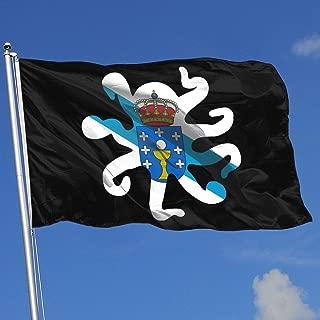 Galicia Flag Octopus Shaped Banner Flag Decor Flag Outdoor Garden Flag 3'X5' House Banner