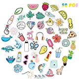 Vsco Cute Stickers for Hydro Flask 50 Pack Teen Girls Hydroflask Stickers Vinyl Laptop Stickers Water Bottle Stickers Kids Adults Computer Stuff Aesthetic Cool