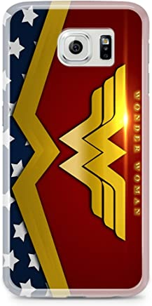 Custodia Ashley in TPU trasparente per Samsung Galaxy S6 Edge, Wonder Woman Shine H