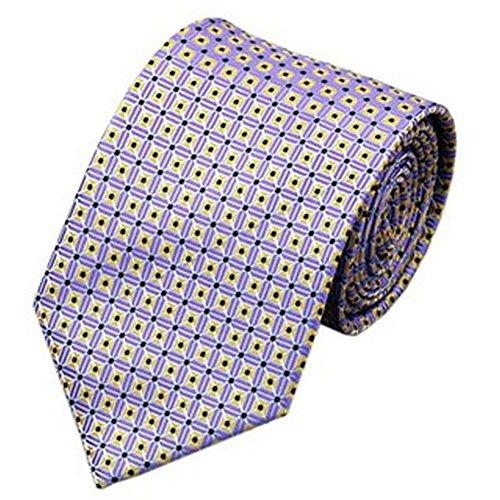 Jason &vogue designer cravate lilas/jaune/carreaux