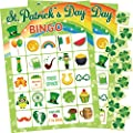 St.Patrick's Day Bingo Game for Kids 24 Players Green Shamrock Party Game Supplies