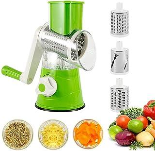 ZJZ Hachoir à légumes, trancheuse ronde, râpe à fromage rotative pour fruits, légumes, pommes de terre
