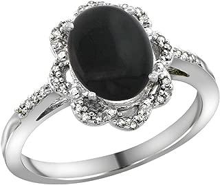 Best black onyx white gold ring Reviews