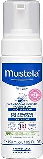شامپو Mustela Foam برای نوزادان ، شامپو کودک ، با جلوگیری از کاهش و کاهش درپوش گهواره ، با آووکادو پرسئوز طبیعی ، 5.07 اونس