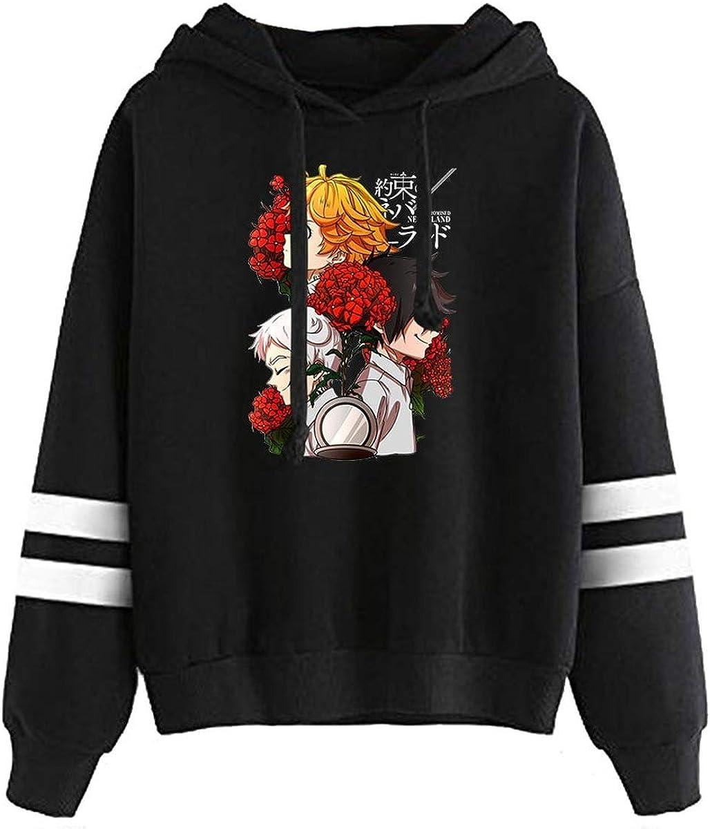 The Promised Neverland Season 2 Pullover Hoodie 2D Print Unisex Parallel Bars Bagless Hooded Warm Sweatshirt