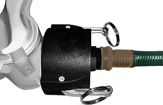 275 330 Gallon IBC Tote Tank Drain Adapter 2 inch Cam Lock x Garden Hose Food Grade