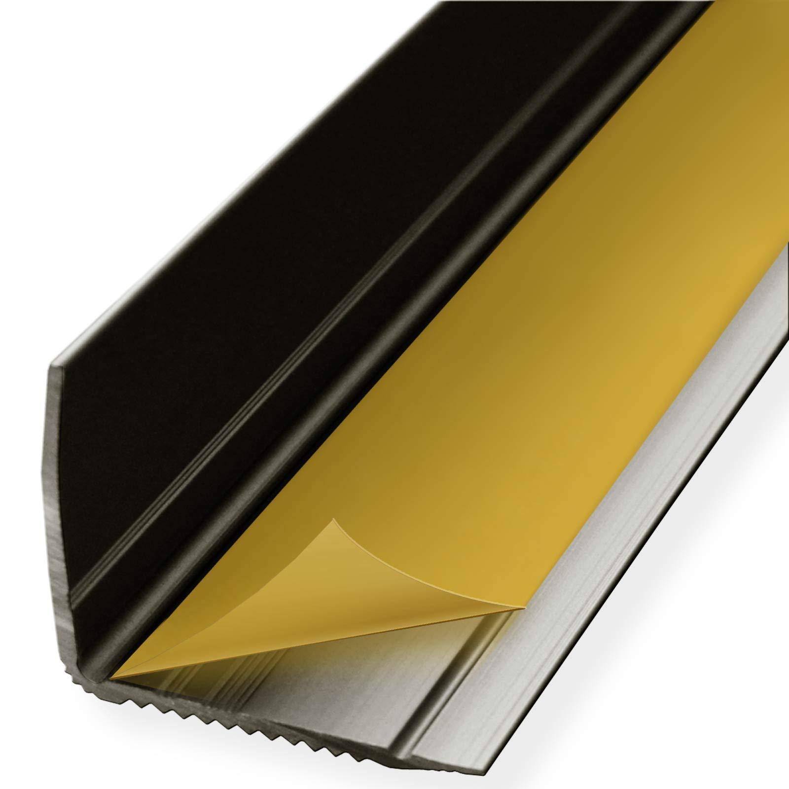 Perfil integral de mamperlán autoadhesivo, aluminio, para escalera, forma de L, ancho 30 mm, en muchos colores y longitudes: Amazon.es: Bricolaje y herramientas