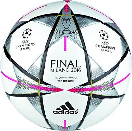 adidas Final Milanottrain - Balón para Hombre, Color Blanco/Negro, Talla 4