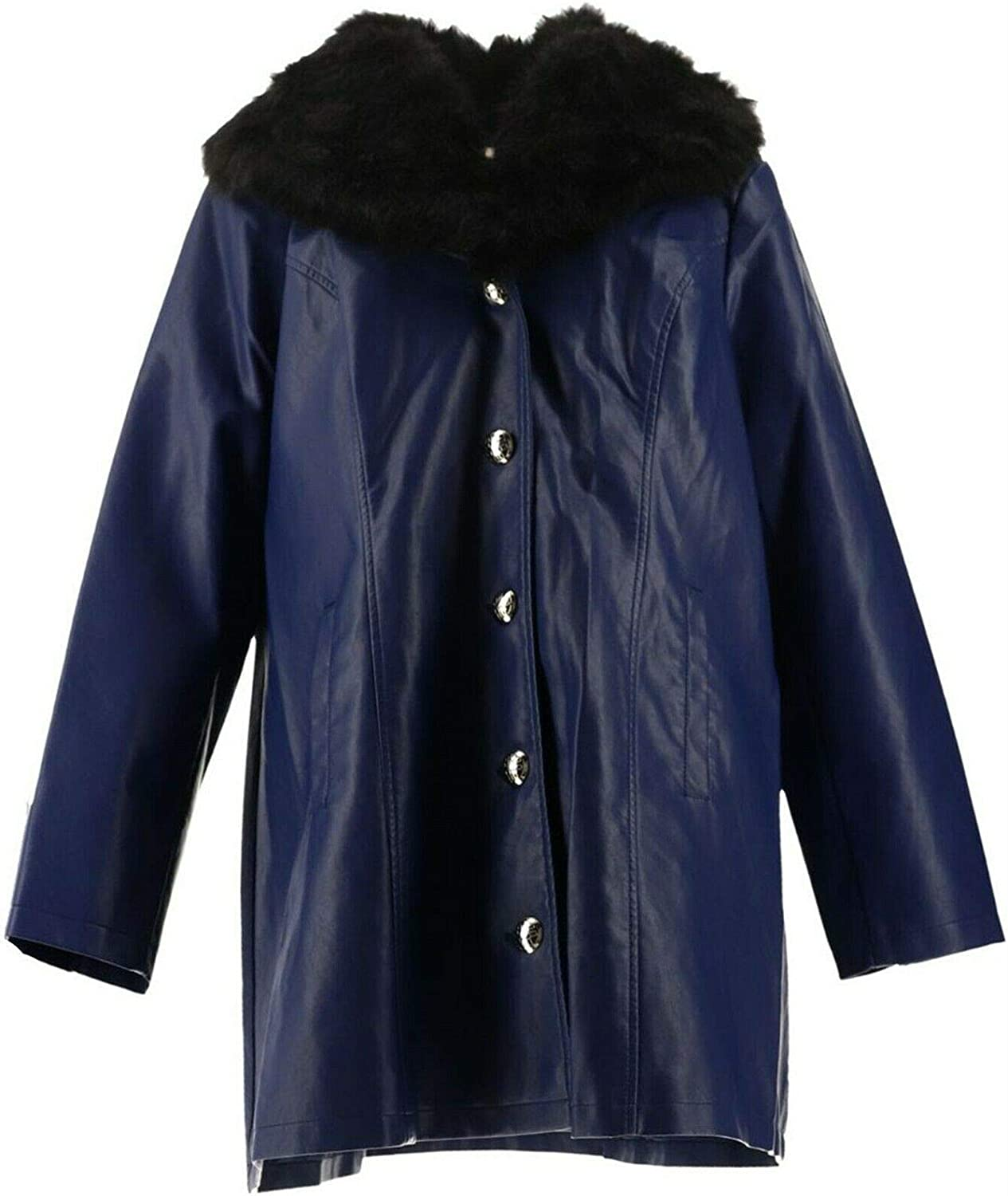 Dennis Basso Faux Leather Jacket Collar Fur Max 43% OFF Industry No. 1 A2946 Removable