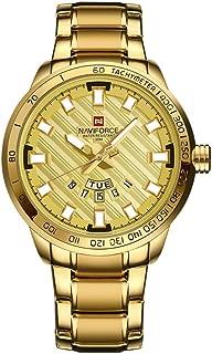 NAVIFORCE Luxury Brand Stainless Steel Gold Quartz Man Sports Waterproof Wrist Watches
