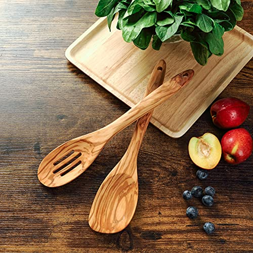 Joequality 2 Piece Olive Wood Spoons for...