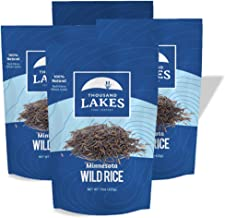 Thousand Lakes Minnesota Grown Wild Rice - 4-pack 15 ounces (3.75 pounds total) | 100% All Natural