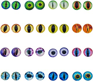 50PCS 6MM Round Glass Dragon Cat Eye Craft Cabochon Cameo for Jewelry Bezel Setting or Doll Eyes Crafts Making